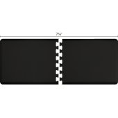Original Collection PuzzlePiece R Series 7.5' x 3' in Black, 90'' W x 36'' D, 3/4'' Thick