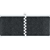 Granite Collection PuzzlePiece R Series 7.5' x 3' Anti-Fatigue Floor Mat in Granite Onyx, 90'' W x 36'' D, 3/4'' Thick