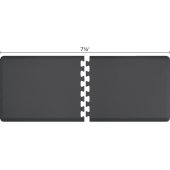 Original Collection PuzzlePiece R Series 7.5' x 3' in Gray, 90'' W x 36'' D, 3/4'' Thick