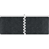 Granite Collection PuzzlePiece R Series 8' x 3' Anti-Fatigue Floor Mat in Granite Onyx, 96'' W x 36'' D, 3/4'' Thick