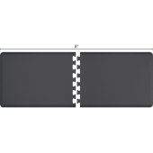Original Collection PuzzlePiece R Series 8' x 3' in Gray, 96'' W x 36'' D, 3/4'' Thick