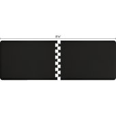 Original Collection PuzzlePiece R Series 8.5' x 3' in Black, 102'' W x 36'' D, 3/4'' Thick