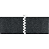 Granite Collection PuzzlePiece R Series 8.5' x 3' Anti-Fatigue Floor Mat in Granite Onyx, 102'' W x 36'' D, 3/4'' Thick