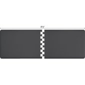 Original Collection PuzzlePiece R Series 8.5' x 3' in Gray, 102'' W x 36'' D, 3/4'' Thick
