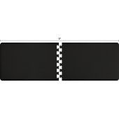Original Collection PuzzlePiece R Series 9' x 3' in Black, 108'' W x 36'' D, 3/4'' Thick