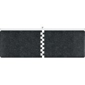 Granite Collection PuzzlePiece R Series 9' x 3' Anti-Fatigue Floor Mat in Granite Onyx, 108'' W x 36'' D, 3/4'' Thick