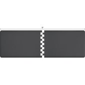 Original Collection PuzzlePiece R Series 9' x 3' in Gray, 108'' W x 36'' D, 3/4'' Thick