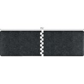Granite Collection PuzzlePiece R Series 9.5' x 3' Anti-Fatigue Floor Mat in Granite Onyx, 114'' W x 36'' D, 3/4'' Thick
