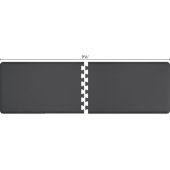 Original Collection PuzzlePiece R Series 9.5' x 3' in Gray, 114'' W x 36'' D, 3/4'' Thick