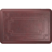 Signature Gatsby Red on Gray - Palm Wood - 24''W x 36''D x 0.75''H