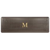 Signature Gatsby Collection 6' x 2' Anti-Fatigue Floor Mat in Antique Dark with Brown Base, 72'' W x 24'' D x 3/4'' Thick