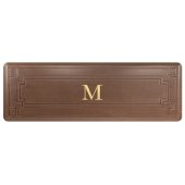 Signature Gatsby Collection 6' x 2' Anti-Fatigue Floor Mat in Antique Light with Tan Base, 72'' W x 24'' D x 3/4'' Thick