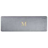 Signature Gatsby Collection 6' x 2' Anti-Fatigue Floor Mat in Beach Glass with White on Gray Base, 72'' W x 24'' D x 3/4'' Thick