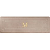 Signature Gatsby Collection 6' x 2' Anti-Fatigue Floor Mat in Sand Dollar with White on Tan Base, 72'' W x 24'' D x 3/4'' Thick