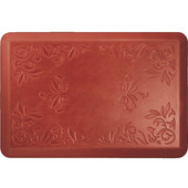 Signature Heirloom Red on Tan - Sunset - 24''W x 36''D x 0.75''H