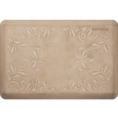 Signature Heirloom White on Tan - Sand Dollar - 24''W x 36''D x 0.75''H
