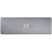 Signature Collection Heirloom 6' x 2' Anti-Fatigue Floor Mat in Beach Glass with White on Gray Base, 72'' W x 24'' D x 3/4'' Thick