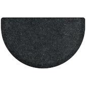 Granite Collection Studio Semi-Circle 36'' x 22'' Anti-Fatigue Floor Mat in Granite Onyx, 36'' W x 22'' D x 3/4'' Thick