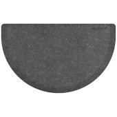 Granite Collection Studio Semi-Circle 36'' x 22'' Anti-Fatigue Floor Mat in Granite Steel, 36'' W x 22'' D x 3/4'' Thick