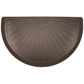 Studio Semi Sunburst Collection 36'' x 22'' Anti-Fatigue Floor Mat in Antique Dark, 36'' W x 22'' D x 3/4'' Thick