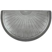 Studio Semi Sunburst Collection 36'' x 22'' Anti-Fatigue Floor Mat in Silver Leaf, 36'' W x 22'' D x 3/4'' Thick