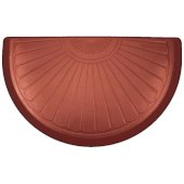 Studio Semi Sunburst Collection 36'' x 22'' Anti-Fatigue Floor Mat in Sunset with Red on Tan Base, 36'' W x 22'' D x 3/4'' Thick