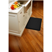 Original Collection Smooth Surface 3' x 2' Anti Fatigue Mat in Black, 36'' W x 24'' D x 3/4'' Thick