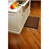 Original Collection Smooth Surface 3' x 2' Anti Fatigue Mat in Brown, 36'' W x 24'' D x 3/4'' Thick