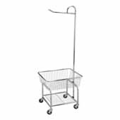 Heavy Duty Laundry Butler with Casters, Basket and Clothes Rack, 24-5/8'' W x 20-11/16'' D x 67-1/2'' H