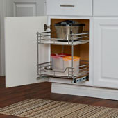 Kitchen Base Cabinet 14-1/2'' Wide Two-Tier Pull-Out Organizer, Min Cab Opening: 14-1/2'' W x 17-3/4'' D x 16-1/2'' H