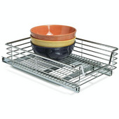 Kitchen or Vanity 14-1/2'' W Pull-Out Organizer with Chrome Wire 14-1/2'' W x 21'' D x 6-1/4'' H, Min Cab Opening: 14 1/2'' W x 21'' D x 6 1/2'' H