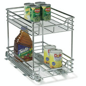 Kitchen Base Cabinet 11-1/2'' Wide Two-Tier Pull-Out Baskets, Min Cab Opening: 11-1/2'' W x 17-3/4'' D x 16-1/2'' H