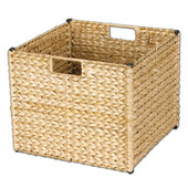 Banana Leaf Storage Bin in Natural Finish, Min Cab Opening: 13''W x 13''D x 11''H