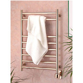 Satin Nickel Eutopia 8-Rail Towel Warmer 19-3/4''W, Satin Nickel, Electric