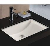 Rhythm Series Bisque China Undermount Bathroom Sink, 21-1/2''W x 15-1/2''D x 7-3/4''H