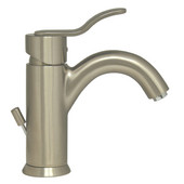Galleryhaus Single Hole/Lever Bathroom Faucet with Pop-Up Waste in Brushed Nickel
