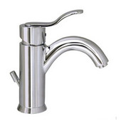 Galleryhaus Single Hole/Lever Bathroom Faucet with Pop-Up Waste in Polished Chrome