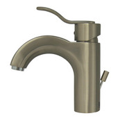 Single Hole/Single Level Bathroom Faucet in Brushed Nickel