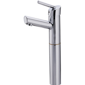 Centurion Single Handle Short Spout Bathroom Faucet with Extension without Waste in Stainless Steel  (Shown in Satin Chrome)