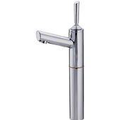 Centurion Elevated Single Hole/Stick Handle Bathroom Faucet with Extension in Polished Chrome (Shown in Satin Chrome)
