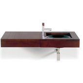 Antonio Miro Collection Wall Mounted Sink with 23-5/8''W Countertop