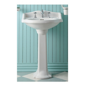 China Bathroom Pedestal Sink, White