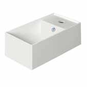 Britannia White Rectangular Wall Mount Bathroom Sink Basin with Right Side Single Faucet Hole, 15-3/4'' W x 7-3/4'' D x 5-1/4'' H