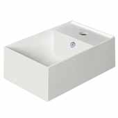 Britannia Right Side, Single Faucet Hole, Rectangular Wall Mount Bathroom Sink Basin with In White, 15-3/4'' W x 10-3/4'' D x 5-3/8'' H