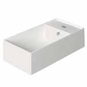 Britannia Rectangular, Single Faucet Hole, Wall Mount Bathroom Sink Basin In White, 19-1/2'' W x 10-3/4'' D x 5-3/8'' H