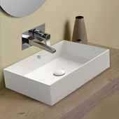 Britannia Rectangular, Above Mount Bathroom Sink Basin In White, 23-5/8'' W x 15-7/8'' D x 5-1/8'' H