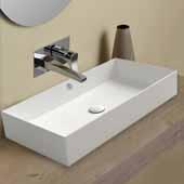 Britannia Large Rectangular, Above Mount Bathroom Sink Basin In White, 31-3/8'' W x 15-7/8'' D x 5-1/8'' H