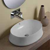 Britannia Oval, Above Mount, Bathroom Basin Sink In White, 23-5/8'' W x 16-3/4'' D x 6-1/4'' H