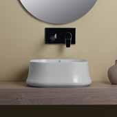 Britannia Square, Above Mount, Bathroom Sink Basin In White, 16-5/8'' W x 16-5/8'' D x 6-1/4'' H