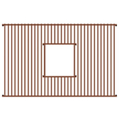 - Rectangular Copperhaus Sink Grid, 22'' W x 16'' D